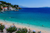 Beautiful Adriatic Beach and Lagoon with Turquoise Water near Sp — Stock Photo