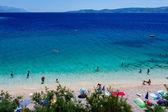 Beautiful Beach and Adriatic Sea with Transparent Blue Water nea — Stock Photo