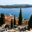 Panoramic View on Saint James Cathedral and City of Sibenik, Cro - Foto Stock