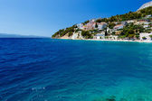 Deep Blue Sea with Transparent Water and Beautiful Adriatic Beac — Stock Photo