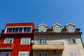 Vivid Bright House Facades in Sibenik, Croatia — Stock Photo