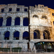 Ancient Roman Amphitheater in Pula at Night, Croatia - ストック写真