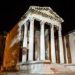 Ancient Roman Temple of Augustus in Pula at Night, Croatia - ストック写真