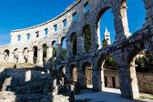 Ancient Roman Amphitheater in Pula, Istria, Croatia — Stock Photo