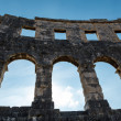 Foto de Stock  : Ancient RomAmphitheater in Pula, Istria, Croatia