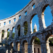 Ancient Roman Amphitheater in Pula, Istria, Croatia — Stock Photo