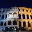 Stock Photo: Ancient RomAmphitheater in Pulat Night, Croatia