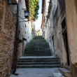 Narrow Street and Stairway in Pula, Croartia — Foto de Stock