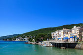Adriatic Sea Scenic View, Opatija Town, Popular Tourist Destinat — Stock Photo