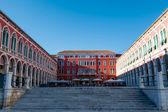 在克罗地亚斯普利特的城市共和国广场 — 图库照片