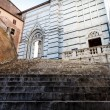 Stock Photo: Stairway Up to Cathedral of Siena, Tuscany, Italy