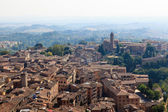 Aerial View on the City of Siena and Nearby Hills, Tuscany, Ital — Stock Photo