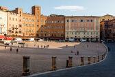 Placu Piazza del campo, centralnego placu siena, Toskania, Włochy — Zdjęcie stockowe