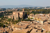 Aerial View on Rooftops and Houses of Siena, Tuscany, Italy — Stock Photo