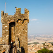 Defensive Tower in the Castle of Montalcino, Tuscany — Stock Photo
