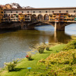 Ponte Vecchio Bridge Across Arno River in Florence at Morning, I — Stock Photo