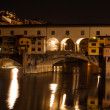 Royalty-Free Stock Photo: Night view of the Ponte Vecchio (Old Bridge), in Florence, Italy