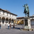 Stock Photo: Grand Duke Ferdinand Medici on PiazzSantissimAnnunziata, Flo