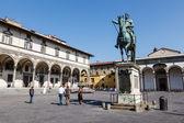Grand Duke Ferdinand Medici on Piazza Santissima Annunziata, Flo — Stock Photo