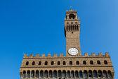 Palazzo vecchio e a piazza della signoria, em florença, itália — Foto Stock