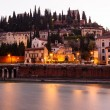 Stock Photo: Adige River Embankment at Morning in Verona, Veneto, Italy