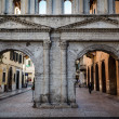 Ancient RomGate PortBorsari in Verona, Veneto, Italy — Stock Photo #13845867