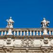 Stock Photo: Piazzdelle Erbe and Statues in Verona, Veneto, Italy