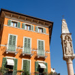 Stock Photo: Devotional Column on PiazzBrin Verona, Veneto, Italy