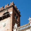 Stock Photo: Bell Tower on Piazzdelle Erbe in Verona, Veneto, Italy