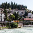 Adige River Embankment in Verona, Veneto, Italy — Stock Photo #14007027