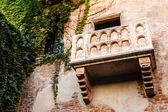 The Famous Balcony of Juliet Capulet Home in Verona, Veneto, Ita — Stock Photo