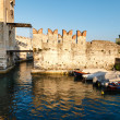 Stock Photo: Medieval Castle on Lake Gardin Sirmione, Northern Italy