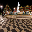 Fontaine du Soleil on Place Massenat Night, Nice, French R — Stock Photo #15700945