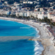 Promenade des Anglais and Beautiful Beach in Nice, French Rivier — Stock Photo