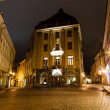 Street of Old Tallinn in the Night, Estonia — Stock Photo