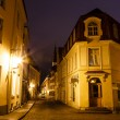 Old Street of Tallinn in the Night, Estonia — Stock Photo
