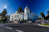 Luxury Hotel Negresco on English Promenade in Nice, French Rivie — Stock Photo