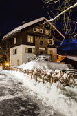Village of Megeve on Christmas Illuminated in the Night, French — Stock Photo