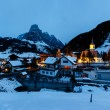 Ski Resort of Corvara at Night, Alta Badia, Dolomites Alps, Ital — Stock Photo
