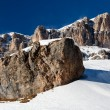 Passo Pordoi Peak near Ski Resort of Canazei, Dolomites Alps, It - Stock Photo