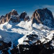 Passo Sella Peak on the Ski Resort of Canazei, Dolomites Alps, I - Stock Photo