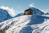 House in Passo Campolongo Valley near Skiing Resort of Arabba, D — Stock Photo