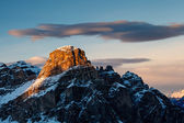 Sassongher Peak on the Ski Resort of Corvara, Alta Badia, Dolomi — Stock Photo