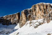 Peak of Vallon on the Skiing Resort of Corvara, Alta Badia, Dolo — Stock Photo