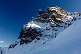 Rocky Mountains on the Ski Resort of Arabba, Dolomites Alps, Ita — Stock Photo