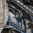 Roof of the Famous Milan Cathedral, Lombardy, Italy — ストック写真