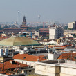 Aerial View on Milan from the Roof of Cathedral, Italy — ストック写真