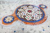 Mozaiková podlaha interiéru galleria vittorio emanuele ii, turistika, cyklistika — Stock fotografie