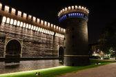 зовнішня стіна castello виставковий центр мілана (сфорца замок) в мілані, я — Fotografia Stock