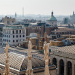 Aerial View on Milan from the Roof of Cathedral, Italy — Stock Photo